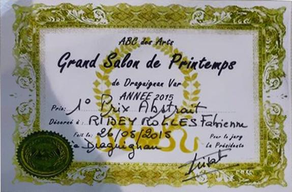 1er Prix Art Abstrait Draguignan 2015