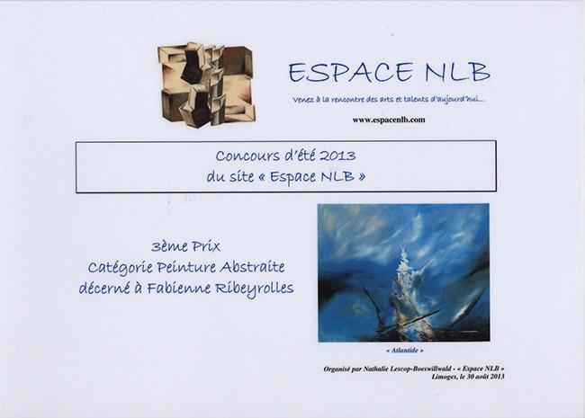 3ème Prix Abstrait Espace NLB 2013