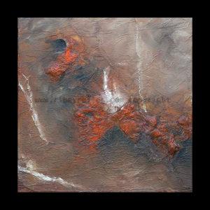 eruption - toile peinture à huile